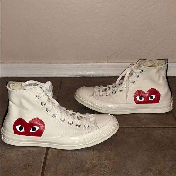 48e06a936244 Converse Shoes - Comme des Garçons PLAY x Converse Heart Sneaker 10